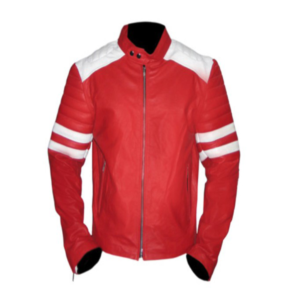 Fight-Club Red Genuine Cowhide Leather Jacket