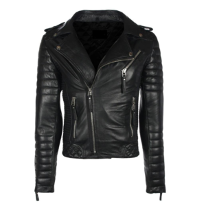 Black Sheepskin Leather Jacket for Mens