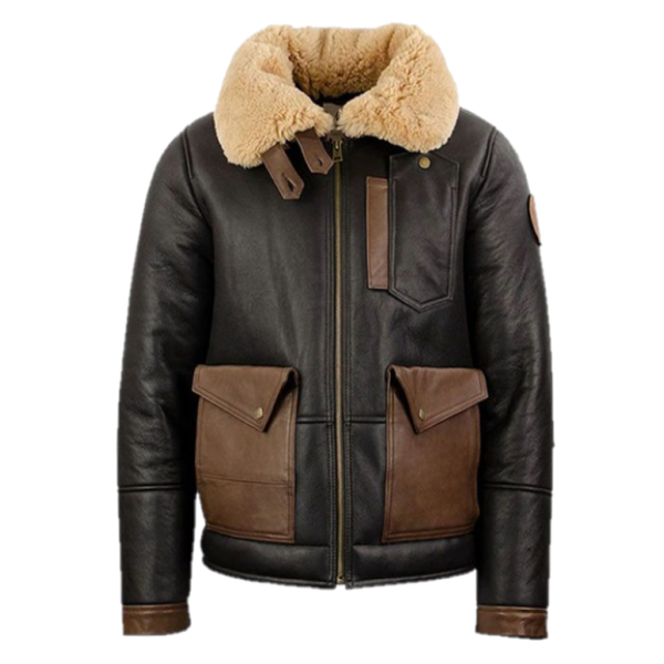 Chocolate Brown Mens Bomber Leather Jacket for Men's