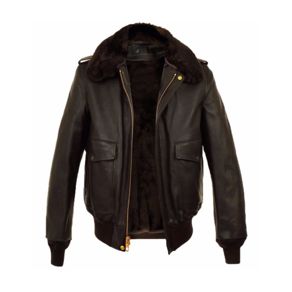 Airmen's Brown Air Force Flight Leather Jacket